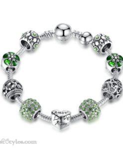 Love Flower Charm Bracelet BA036822CB 2