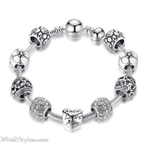 Love Flower Charm Bracelet BA036822CB 5