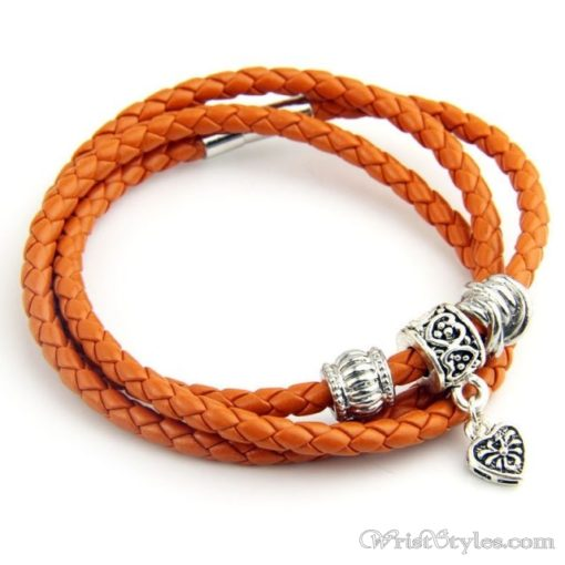 Magnetic Braided Leather Bracelet BA333879LB 2