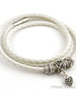 Magnetic Braided Leather Bracelet BA333879LB 5