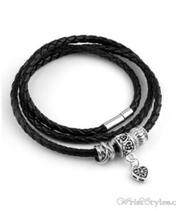 Magnetic Braided Leatherr Bracelet BA333879LB 3