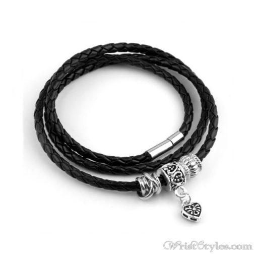 Magnetic Braided Leatherr Bracelet BA333879LB 3