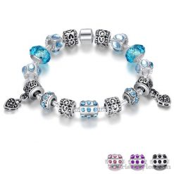 Murano Glass Beads Charm Bracelet BA049134CB 1