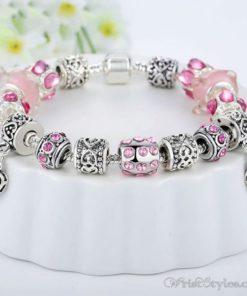 Murano Glass Beads Charm Bracelet BA049134CB 2