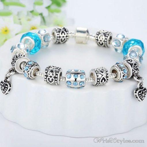 Murano Glass Beads Charm Bracelet BA049134CB 3