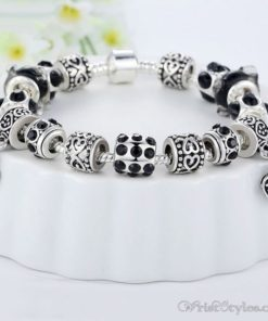 Murano Glass Beads Charm Bracelet BA049134CB 4