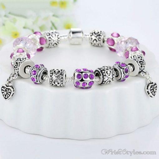 Murano Glass Beads Charm Bracelet BA049134CB 5