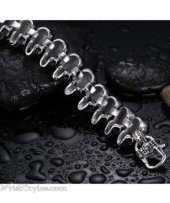 316L Stainless Steel Skull Bracelet VN377073BR 5