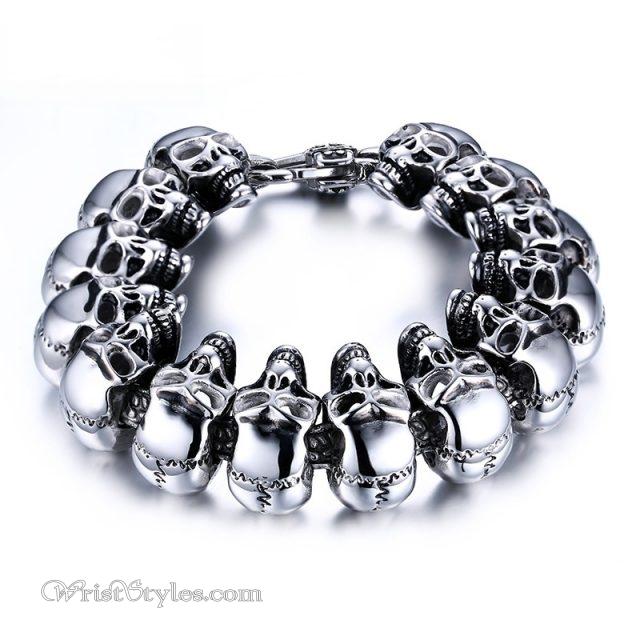 316l Stainless Steel Skull Bracelet Vn377073br