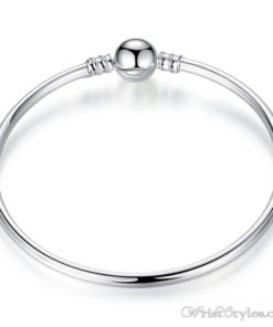 Charm Bangle With Ball Clasp BA606720CB
