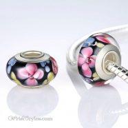 European Glass Floral Charm BA624212BC