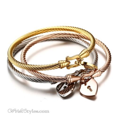 Locked Heart Bangle Set VN579612BS 1