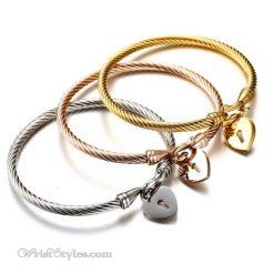 Locked Heart Bangle Set VN579612BS