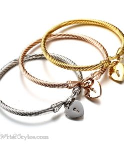 Locked Heart Bangle Set VN579612BS