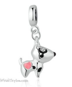 Pink Hearted Dog Pendant BA815706CH 1