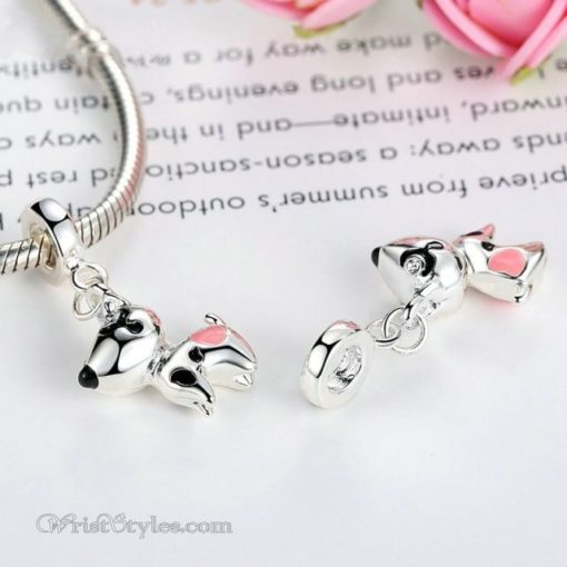 Pink Hearted Dog Pendant BA815706CH 3