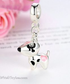 Pink Hearted Dog Pendant BA815706CH 4