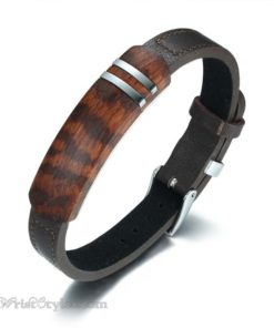 Rosewood Genuine Leather Bracelet VN112958LB 1