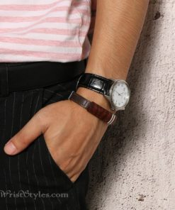 Rosewood Genuine Leather Bracelet VN112958LB 2