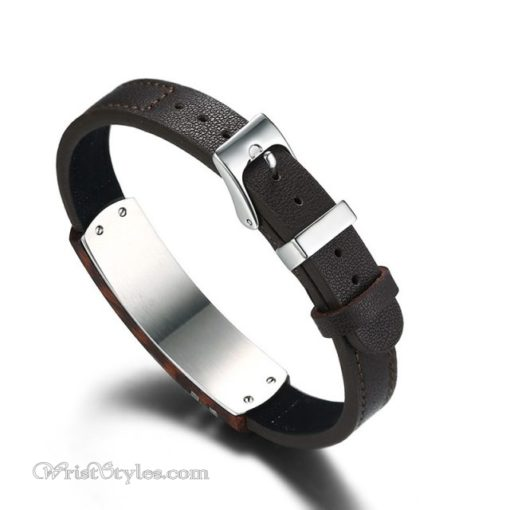 Rosewood Genuine Leather Bracelet VN112958LB 5
