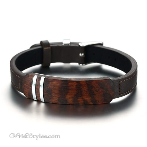 Rosewood Genuine Leather Bracelet VN112958LB