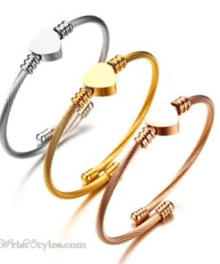 Triple Hearted Bangle Set VN251713BS