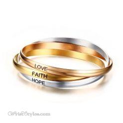 Faith Hope Love Bangle Set VN078309BS 6