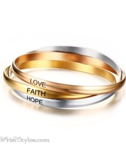 Faith Hope Love Bangle Set VN078309BS 6