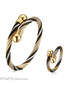 Lux Bangle and Ring Set VN662845BS 1
