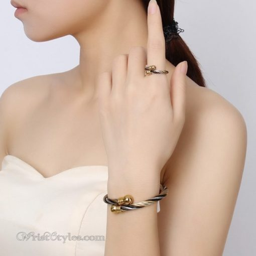 Lux Bangle and Ring Set VN662845BS 4
