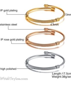 Triple Twisted Cable Bangle Set VN936515BS 1