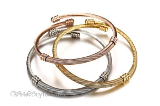 Triple Twisted Cable Bangle Set VN936515BS 2