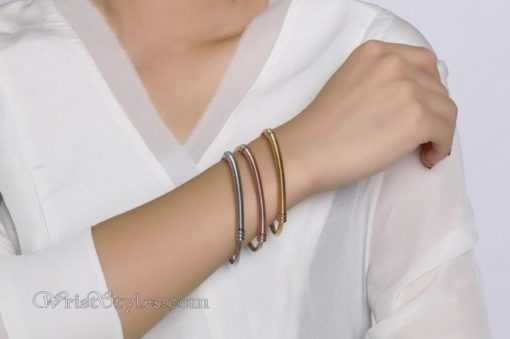 Triple Twisted Cable Bangle Set VN936515BS 3