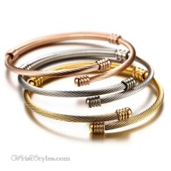 Triple Twisted Cable Bangle Set VN936515BS 4