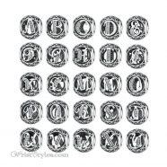 Alphabet Bracelet Charms WO009128BC