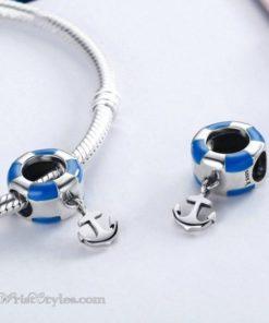 Anchored Life Buoy Bracelet Charm BA610676BC 1