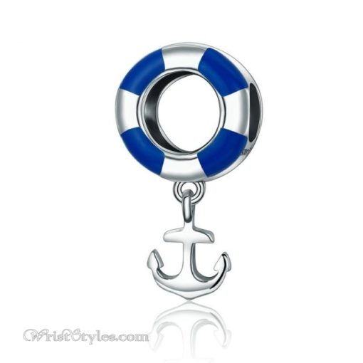 Anchored Life Buoy Bracelet Charm BA610676BC