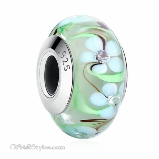 Murano Glass Bead Bracelet Charm 19