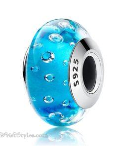 Murano Glass Bead Bracelet Charm 25