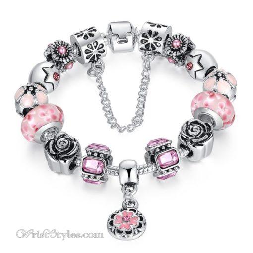 Royal Floral Charm Bracelet WO082468CB 1