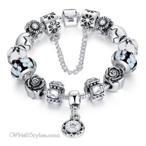Royal Floral Charm Bracelet WO082468CB 10