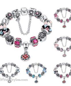 Royal Floral Charm Bracelet WO082468CB
