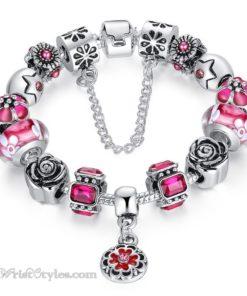 Royal Floral Charm Bracelet WO082468CB 7