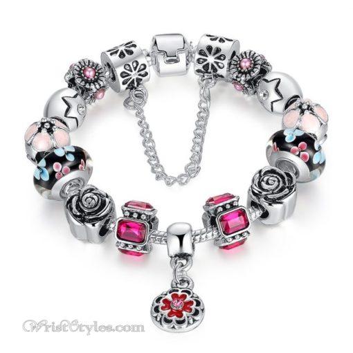 Royal Floral Charm Bracelet WO082468CB 8