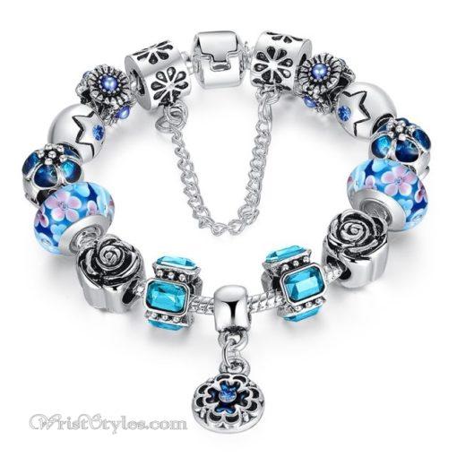 Royal Floral Charm Bracelet WO082468CB 9
