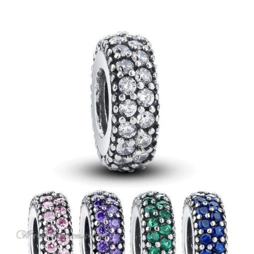 Sparkling Charm Bracelet Spacer WO601749BS