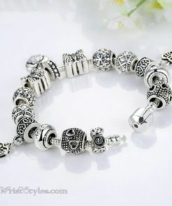 Vintage Silver Butterfly Charm Bracelet WO448026CB 1