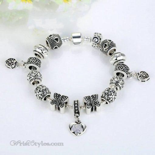 Vintage Silver Butterfly Charm Bracelet WO448026CB 2