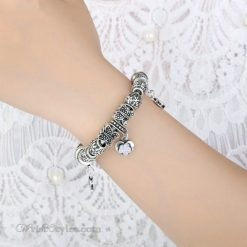 Vintage Silver Butterfly Charm Bracelet WO448026CB