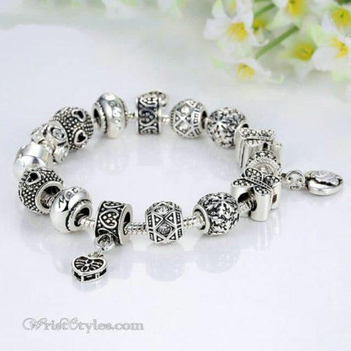 Vintage Silver Butterfly Charm Bracelet WO448026CB 3